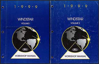1999 ford windstar wiring diagram manual original 1999 ford windstar repair shop manual 2 volume set original