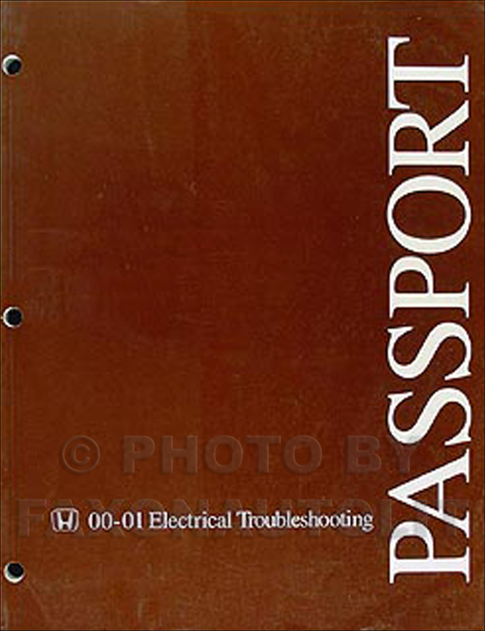 2000 2001 honda passport electrical troubleshooting manual wiring rh ebay com 1998 honda passport wiring diagram 1999 honda passport wiring diagram