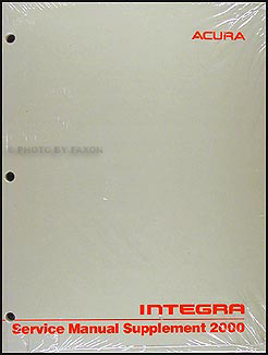 2000 Acura Integra Shop Manual Original Supplement