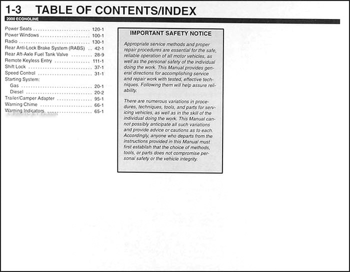 Table of Contents Page 3
