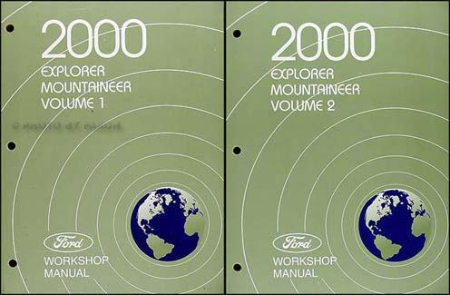 2000 explorer and mountaineer repair shop manual original 2 volume set rh faxonautoliterature com 2000 QX4 2000 QX4