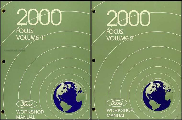 2000 ford focus repair shop manual 2 volume set original rh faxonautoliterature com 2000 Ford Focus 2.0 Engine 2000 Ford Focus Parts Diagram