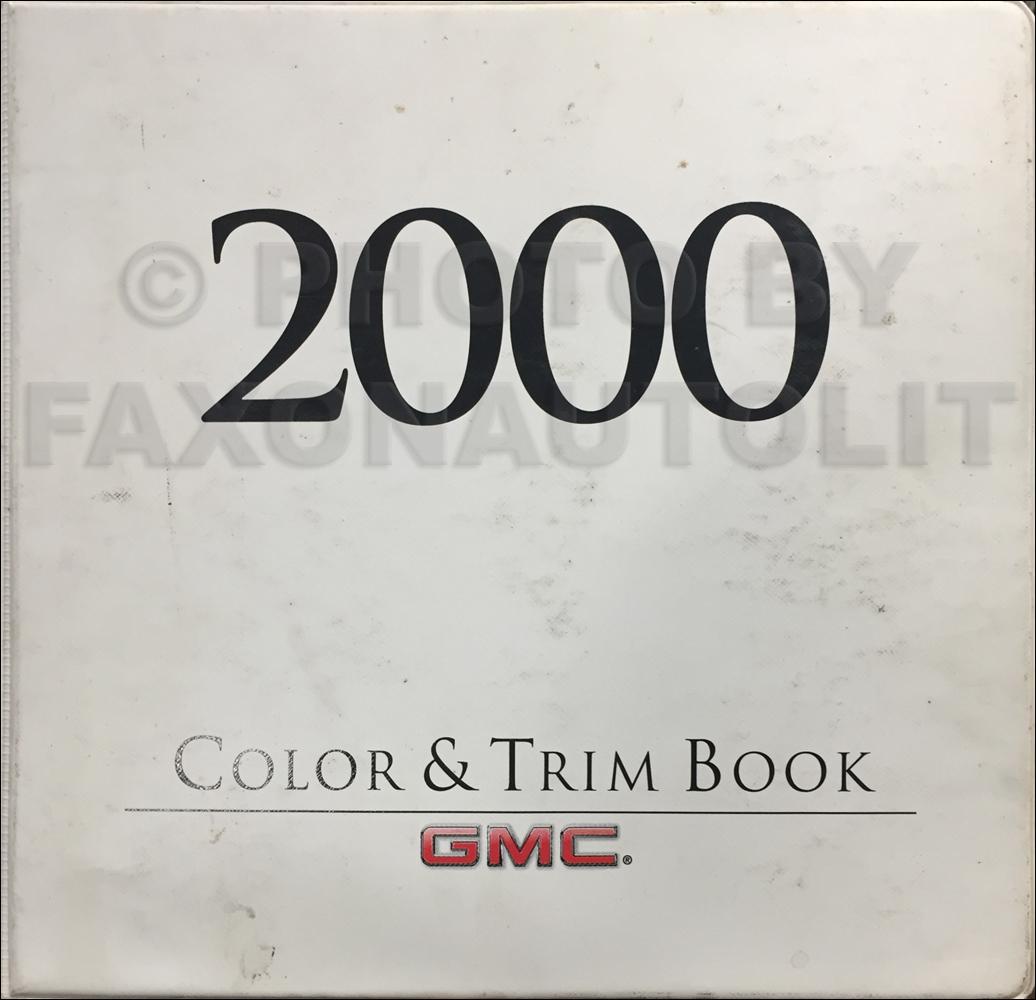 2000 GMC Light Duty Color & Upholstery Dealer Album Original