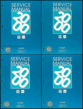 2000 express and savana repair shop manual 4 volume set original rh faxonautoliterature com 2000 camry repair manual statim 2000 repair manual