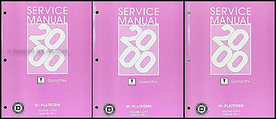 2000 Pontiac Grand Prix Repair Shop Manual Original 3 border=