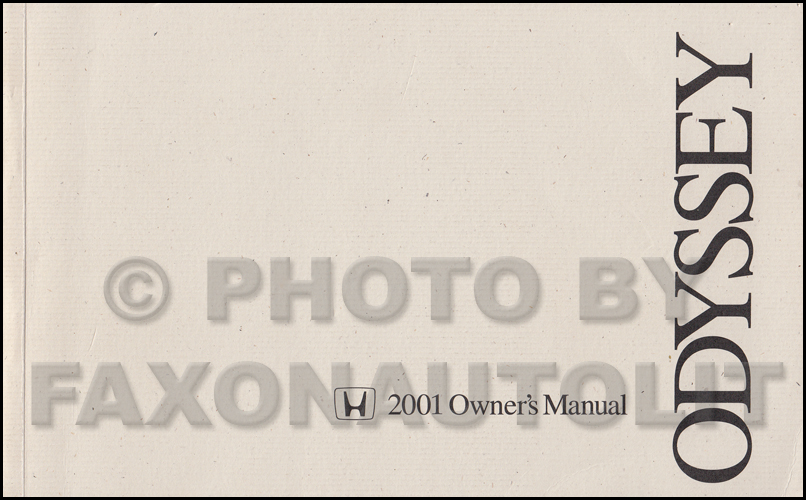 2000 honda odyssey owners manual