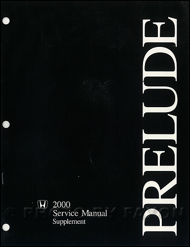 2000 honda prelude repair shop manual original supplement rh faxonautoliterature com 2015 Honda Prelude 2000 Honda NSX