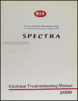 2000 Kia Spectra Electrical Troubleshooting Manual Wiring Diagrams