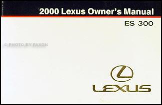 2000 lexus es 300 owners manual original. Black Bedroom Furniture Sets. Home Design Ideas