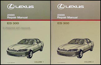 2000 lexus es 300 repair shop manual original 2 volume set. Black Bedroom Furniture Sets. Home Design Ideas