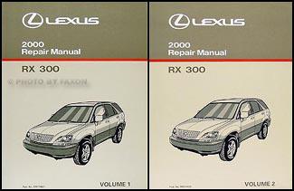 2000 lexus rx 300 repair shop manual original 2 volume set rh faxonautoliterature com 2000 rx300 service manual 2002 lexus rx300 service manual