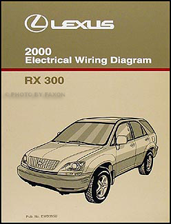2000 lexus rx 300 owners manual original. Black Bedroom Furniture Sets. Home Design Ideas