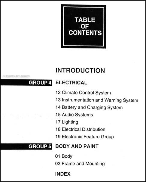 2000 lincoln town car repair shop manual set original