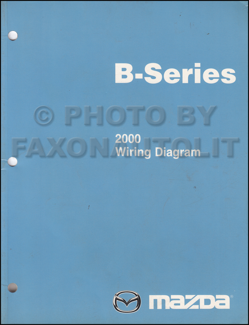 2000 mazda b-series pickup truck wiring diagram manual original b2500 b3000 b4000 mazda b series wiring diagram