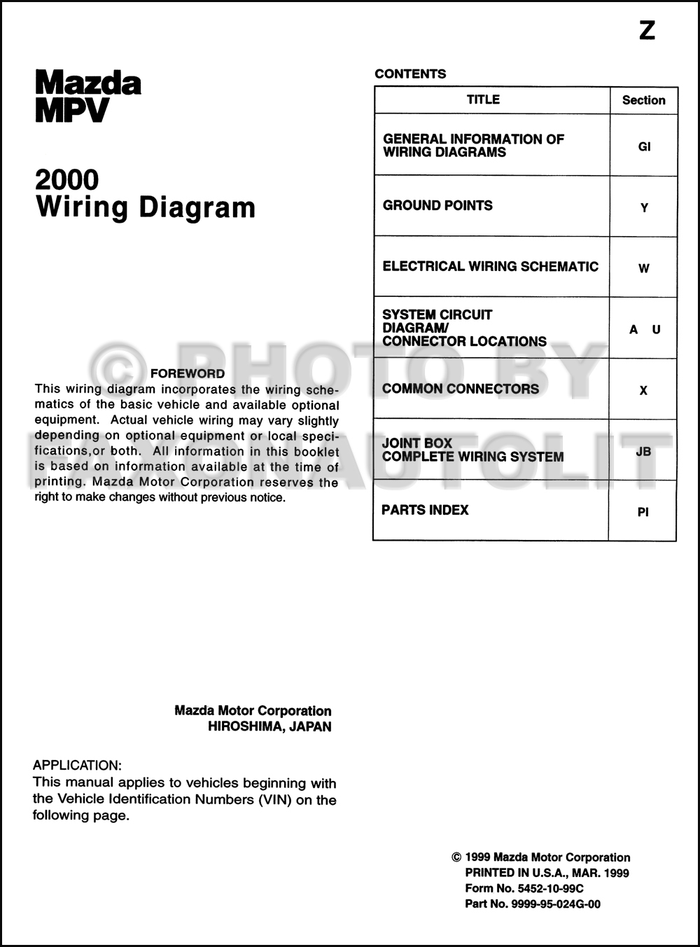 2000 mazda mpv wiring diagram manual original 2003 Mazda MPV Exhaust Diagram  2002 Mazda MPV Engine