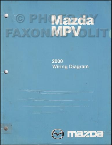 2000 Mazda Mpv Repair Shop Manual Original
