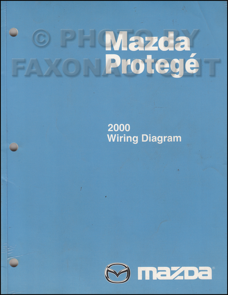 2000 mazda protege wiring diagram manual original