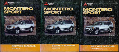 2000 Mitsubishi Montero Sport Repair Manual Set Original