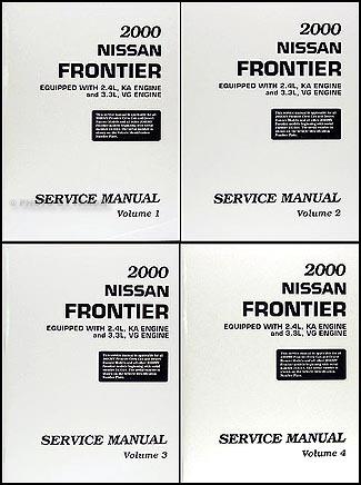 2000 Nissan Frontier Pickup Repair Manual Set Original