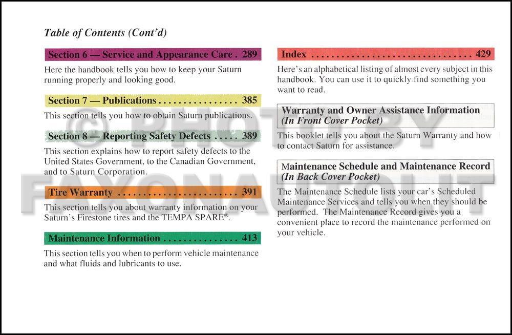 2000 saturn l series owner s manual original rh faxonautoliterature com 2000 saturn lw1 owners manual 2000 saturn sl1 owners manual pdf