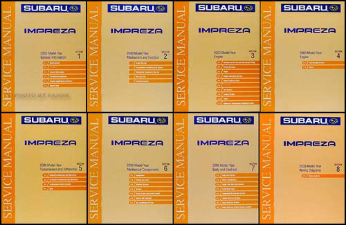 2000 Subaru Impreza Repair Shop Manual 8 Volume Set Original