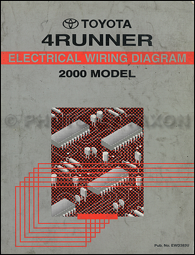 2000 Toyota 4runner Wiring Diagram Manual Original