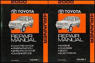 2000 toyota 4runner repair shop manual original 2 volume set rh faxonautoliterature com 2005 toyota 4runner shop manual 2003 toyota 4runner service manual