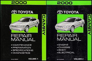 2000 toyota camry repair shop manual 2 volume set original rh faxonautoliterature com Toyota Camry Repair Manual Online toyota camry 2000 repair manual pdf
