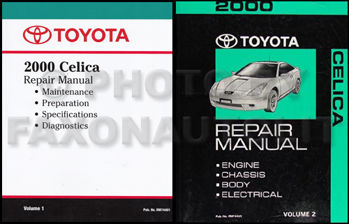 2000ToyotaCelicaRMSetMixed 2000 toyota celica repair shop manual reprint volume 1 & original 2000 toyota celica wiring diagram at gsmx.co