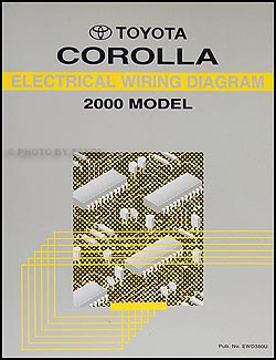 2000 toyota corolla repair shop manual original 2000 toyota corolla ac wiring diagram