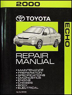 2000 toyota echo wiring diagram manual original 2000 toyota echo repair shop manual original 119 00