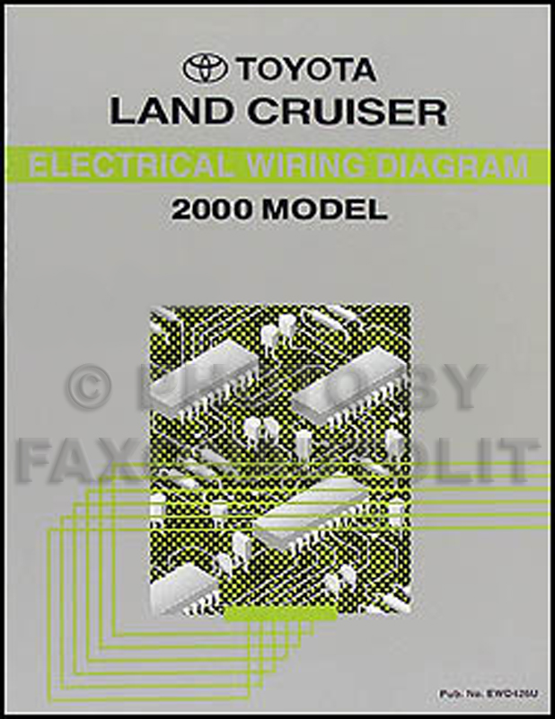2000 Toyota Land Cruiser Wiring Diagram Manual Original