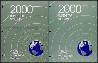 2000 ford windstar repair shop manual 2 volume set original. Black Bedroom Furniture Sets. Home Design Ideas