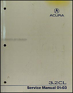 2001-2003 Acura 3.2 CL Shop Manual Original