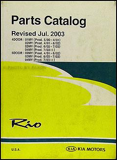 2004 kia rio owners manual