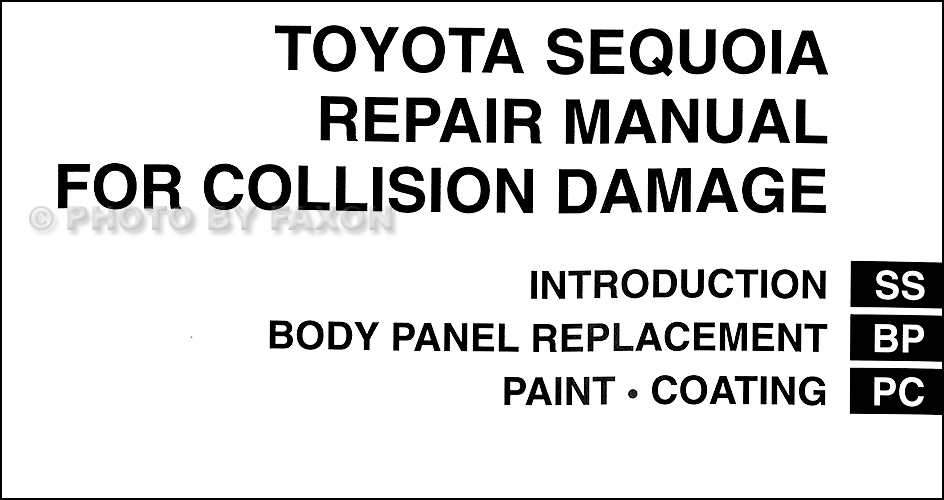 2001 Toyota Sequoia Repair Manual 41448 on chrysler pacifica wagon