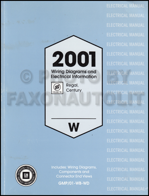 2001 buick regal and century wiring diagram manual original 2001 buick regal century repair manual original 3 volume set