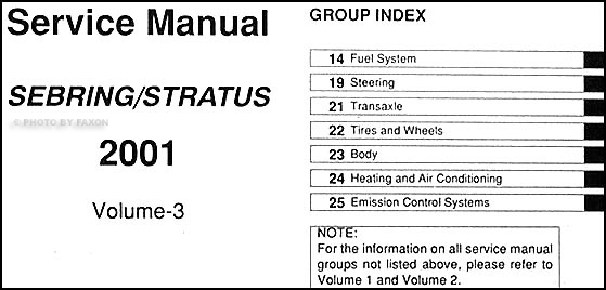 2001 chrysler sebring manual free owners manual u2022 rh wordworksbysea com 2000 chrysler sebring repair manual free pdf 2001 chrysler sebring convertible repair manual