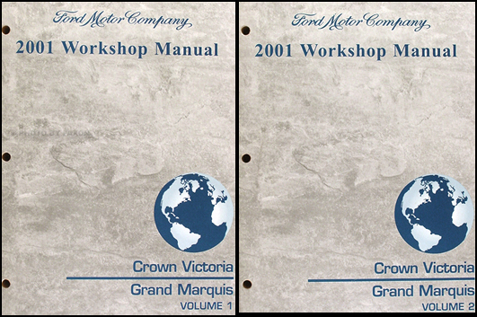 2001 ford crown victoria mercury grand marquis wiring diagram manual 2001 ford crown victoria and mercury grand marquis repair shop manual set