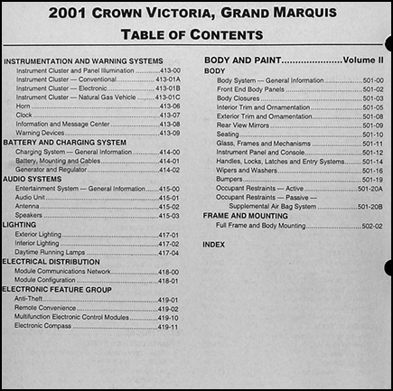 encontr manual owners manual for 2001 ford crown victoria. Black Bedroom Furniture Sets. Home Design Ideas