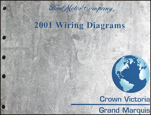 2001 ford crown victoria mercury grand marquis wiring diagram manual rh faxonautoliterature com Ford Police Interceptor Wiring-Diagram 1990 Crown Victoria Wiring Diagram