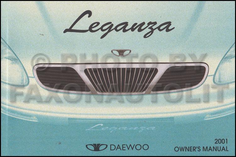 2001 daewoo leganza owner 39 s manual original. Black Bedroom Furniture Sets. Home Design Ideas