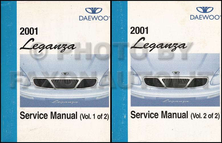 2001 daewoo leganza repair shop manual original 2 volume set rh faxonautoliterature com 1995 Infiniti Q45 Repair Manual 2001 daewoo leganza owners manual pdf