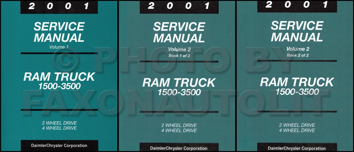 New 2001 Dodge Ram Truck Service Manual Gas Diesel 1500