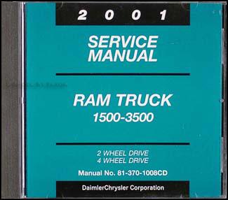 2001 dodge ram truck cd rom repair shop manual original 1500 3500 rh faxonautoliterature com 1999 Dodge 1500 2001 ram 1500 service manual