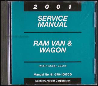 2001 dodge ram van wagon repair shop manual original. Black Bedroom Furniture Sets. Home Design Ideas