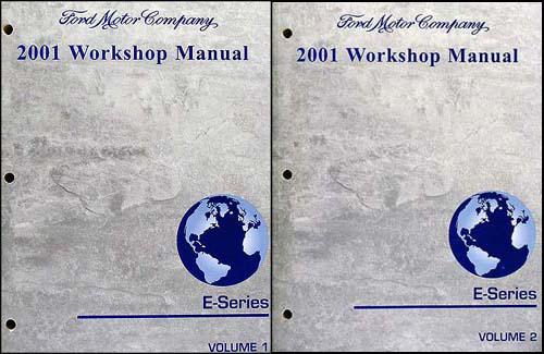 2001 Ford Econoline Van and Club Wagon Repair Shop Manual Set of 2 Original