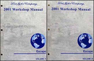 2001 ford escape repair shop manual original 2 volume set rh faxonautoliterature com 2008 Escape 2001 ford escape workshop manual download