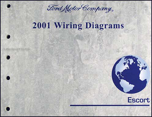 2001 Ford Escort & ZX-2 Wiring Diagram Manual Original
