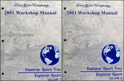 2001 ford explorer and sport trac repair manual set ebay. Black Bedroom Furniture Sets. Home Design Ideas